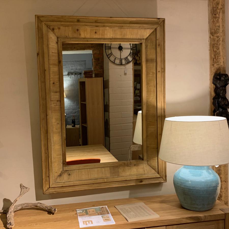 Large Aged Pine Mirror