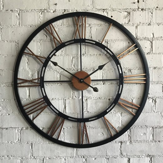 Copper and Black Clock