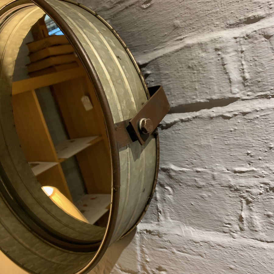 Small Round Metal Mirror